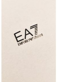 EA7 Emporio Armani - Polo. Okazja: na co dzień. Typ kołnierza: polo. Kolor: biały. Materiał: dzianina. Długość: krótkie. Styl: casual