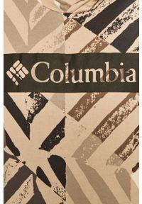 columbia - Columbia - Bluza. Okazja: na co dzień. Typ kołnierza: kaptur. Kolor: beżowy. Materiał: dzianina. Styl: casual