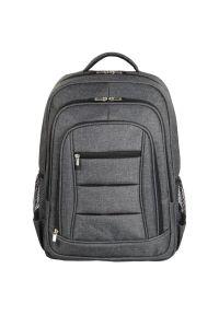 Szary plecak na laptopa hama elegancki