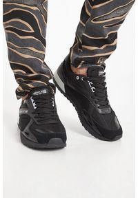 Sneakersy Versace Jeans Couture na sznurówki, z aplikacjami, z okrągłym noskiem
