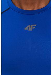 4f - 4F - T-shirt. Kolor: niebieski. Materiał: włókno, dzianina. Długość rękawa: raglanowy rękaw