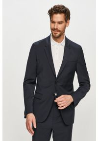 Niebieski garnitur Hugo gładki