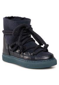 Inuikii - Buty INUIKII - Sneaker Classic 60202-001 Dark Blue. Okazja: na spacer. Kolor: niebieski. Materiał: skóra, zamsz