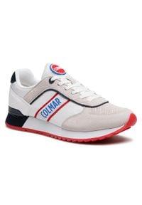 Colmar - Sneakersy COLMAR - Travis Runner 030 White. Kolor: wielokolorowy, biały, beżowy. Materiał: zamsz, materiał, skóra ekologiczna. Szerokość cholewki: normalna. Styl: klasyczny