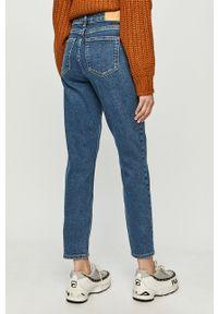 Niebieskie jeansy Jacqueline de Yong na co dzień, z podwyższonym stanem, casualowe
