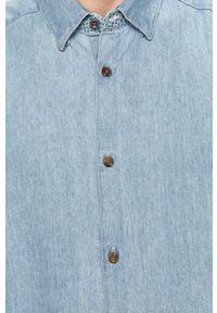 Niebieska koszula Only & Sons casualowa, na co dzień, button down, długa