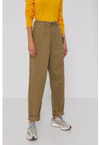 Dr. Denim - Spodnie. Okazja: na co dzień. Kolor: zielony. Materiał: denim. Styl: casual
