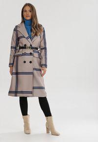 Beżowy płaszcz Born2be #6