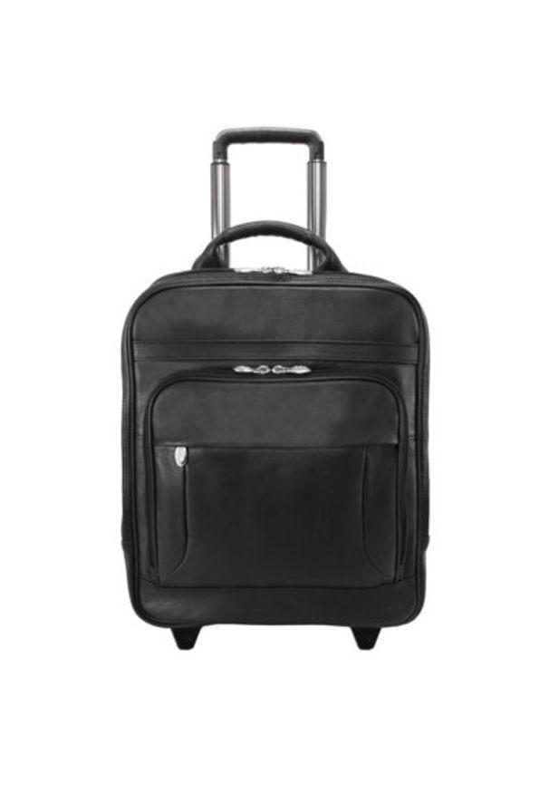 Plecak na laptopa MCKLEIN Wicker Park 15.6 cali Czarny. Kolor: czarny. Materiał: skóra. Styl: biznesowy, elegancki
