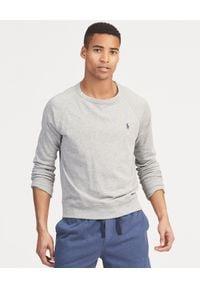 Ralph Lauren - RALPH LAUREN - Szara bluza z logo. Typ kołnierza: polo. Kolor: szary. Materiał: dresówka, bawełna, jeans. Wzór: haft. Styl: klasyczny