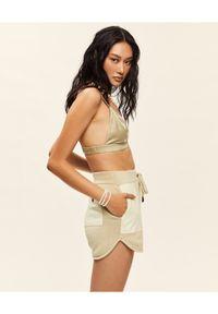 SER.O.YA - Beżowe bawełniane szorty. Kolor: beżowy. Materiał: bawełna