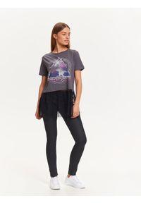 Szary t-shirt TROLL z nadrukiem, z krótkim rękawem #6