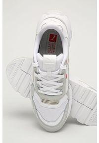 Białe sneakersy Puma na sznurówki, z cholewką, z okrągłym noskiem #4
