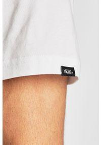 Biały t-shirt Vans z nadrukiem, na co dzień, casualowy