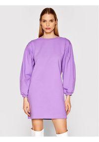 Imperial Sukienka dzianinowa ABRFBCR Fioletowy Regular Fit. Kolor: fioletowy. Materiał: dzianina