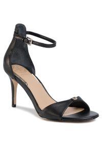 Czarne sandały Guess z aplikacjami, klasyczne