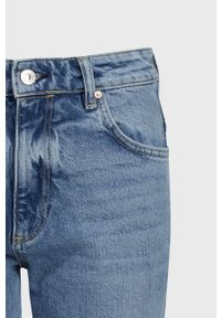 Niebieskie jeansy AllSaints z podwyższonym stanem