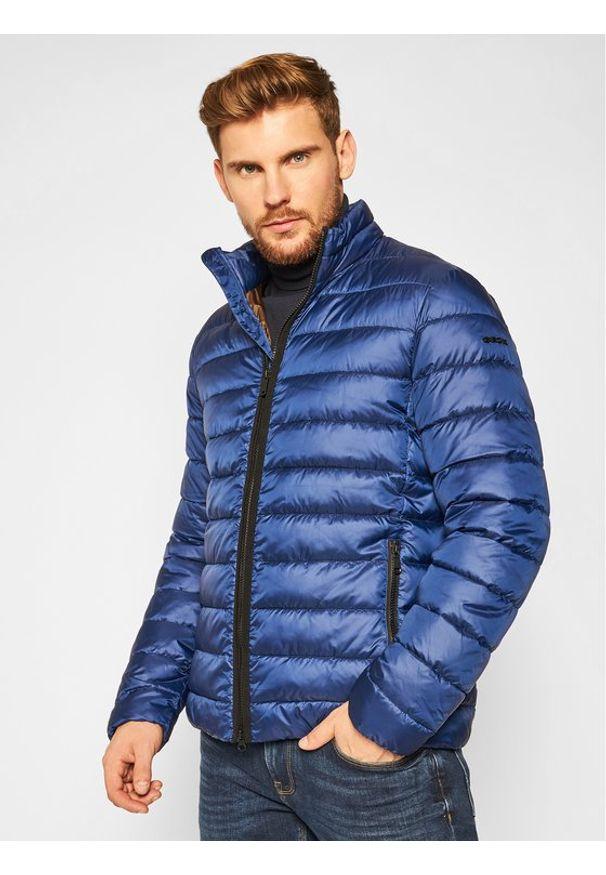 Niebieska kurtka zimowa Geox