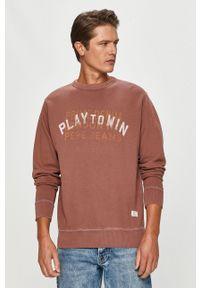 Pepe Jeans - Bluza bawełniana Rufus. Okazja: na co dzień. Kolor: różowy. Materiał: bawełna. Wzór: nadruk. Styl: casual