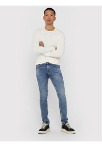 Only & Sons - ONLY & SONS Jeansy Loom Life 22018653 Granatowy Slim Fit. Kolor: niebieski