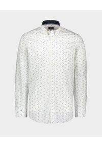 PAUL & SHARK - Bawełniana koszula z nadrukiem rekina. Kolor: biały. Materiał: bawełna. Wzór: nadruk. Sezon: lato. Styl: klasyczny