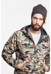 Zimowa czapka męska PaMaMi - Czarny. Kolor: czarny. Materiał: akryl. Wzór: ze splotem, gładki. Sezon: zima