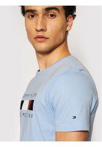 TOMMY HILFIGER - Tommy Hilfiger T-Shirt Logo Box MW0MW16583 Niebieski Regular Fit. Kolor: niebieski