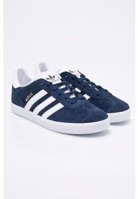 Niebieskie buty sportowe adidas Originals z okrągłym noskiem, z cholewką, na sznurówki