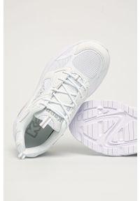Białe sneakersy Kappa na sznurówki, z okrągłym noskiem