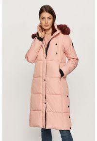 Różowa kurtka Desigual na co dzień, casualowa
