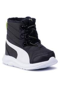 Śniegowce PUMA - Fun Racer Boot Ac Inf 194282 01 Puma Black/Sharp Green. Kolor: czarny. Materiał: skóra ekologiczna, materiał. Szerokość cholewki: normalna