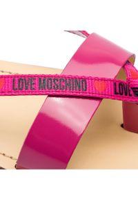 Różowe japonki Love Moschino