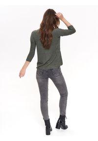 TROLL - T-shirt damski, z nadrukiem. Okazja: na co dzień. Kolor: zielony. Materiał: dzianina. Długość rękawa: krótki rękaw. Wzór: nadruk. Sezon: wiosna, lato. Styl: casual