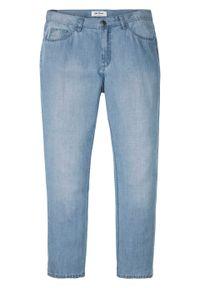 """Dżinsy Regular Fit Straight, TENCEL™ z lnem bonprix niebieski """"bleached"""". Kolor: niebieski"""