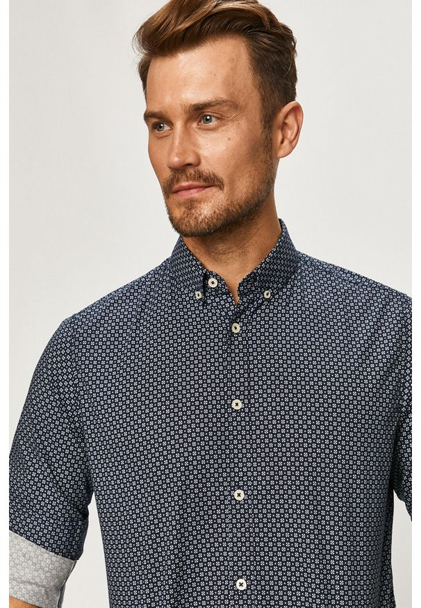 Niebieska koszula Tom Tailor Denim button down, casualowa, na co dzień