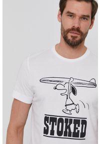 s.Oliver - s. Oliver - T-shirt. Okazja: na co dzień. Kolor: biały. Materiał: bawełna. Wzór: nadruk. Styl: casual