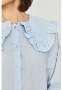 Niebieska koszula Answear Lab długa, gładkie, wakacyjna