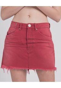 ONETEASPOON - Spódnica Red Envy. Okazja: na co dzień. Stan: podwyższony. Kolor: czerwony. Materiał: materiał. Wzór: aplikacja. Styl: klasyczny, casual