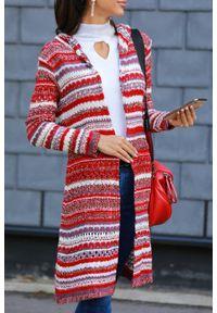 Wielokolorowy sweter IVET na jesień, w paski, do kolan
