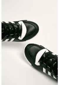 Czarne sneakersy adidas Originals z cholewką, z okrągłym noskiem #6