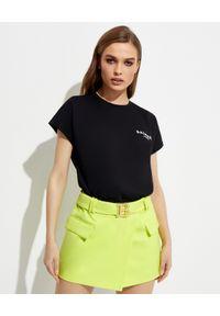 Czarny t-shirt Balmain krótki, klasyczny