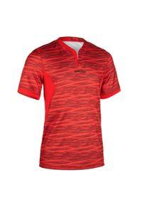 OFFLOAD - KOSZULKA do rugby R500 męska. Kolor: czerwony. Materiał: poliester, materiał. Sport: fitness