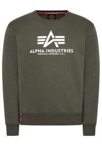 Alpha Industries Bluza Reflective Print 178302RP Zielony Regular Fit. Kolor: zielony. Wzór: nadruk