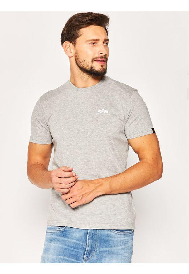 Alpha Industries T-Shirt Basic 188505 Szary Regular Fit. Kolor: szary