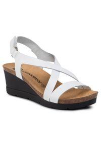 Białe sandały Dr. Brinkmann