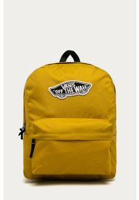 Oliwkowy plecak Vans z aplikacjami