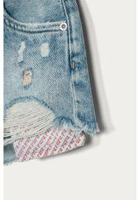 Niebieskie spodenki Pepe Jeans na co dzień, casualowe, z podwyższonym stanem