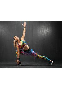 Legginsy sportowe FJ! na jogę i pilates, w kolorowe wzory