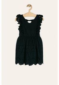 Niebieska sukienka Name it rozkloszowana, mini