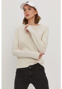 Kremowy sweter Vero Moda casualowy, na co dzień